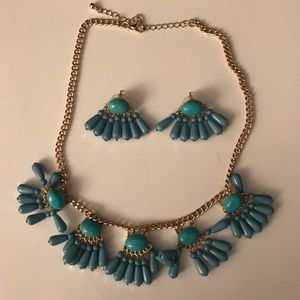 Bohemian necklace and earring set